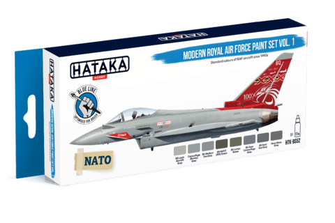 BLUE LINE Modern Royal Air Force Paint Set Vol1 Hataka Hobby - Pré-venda