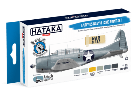 BLUE LINE - Early US Navy & USMC Paint Set Hataka Hobby- Pré-venda