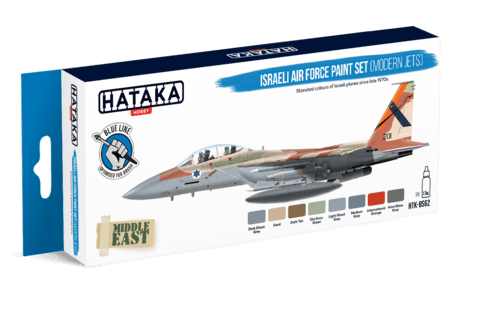 BLUE LINE Israeli Air Force Paint Set (Modern Jets) Hataka Hobby - Pré-venda
