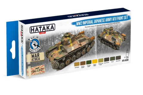 BLUE LINE - WW2 Imperial Japanese Army AFV Paint Set Hataka Hobby