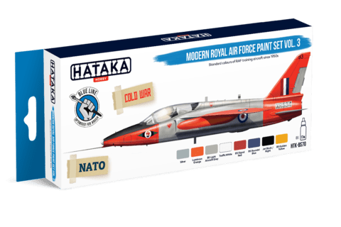 BLUE LINE - Modern Royal Air Force paint set vol. 3 Hataka Hobby - Pré-venda
