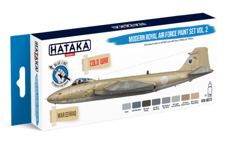 BLUE LINE - Modern Royal Air Force Paint Set Vol2 Hataka Hobby - Pré-venda