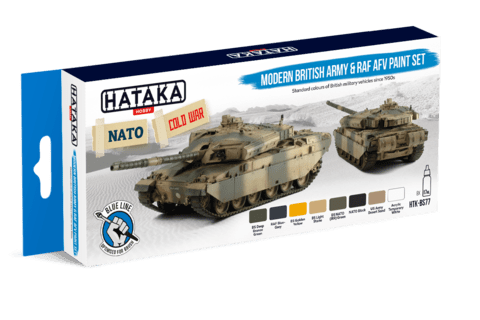 BLUE LINE Modern British Army and RAF AFV Paint Set Hataka Hobby - PRÉ-VENDA