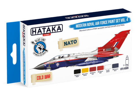 BLUE LINE - Modern Royal Air Force paint set vol. 4 Hataka Hobby - Pré-venda