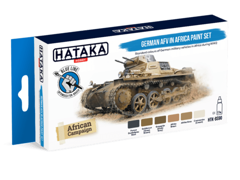 BLUE LINE - German AFV in Africa Paint Set Hataka Hobby - Pré-venda