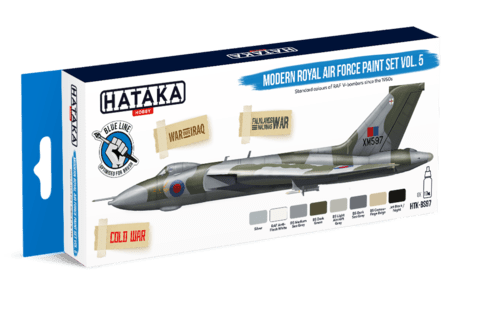 BLUE LINE - Modern Royal Air Force paint set vol. 5 Hataka Hobby - PRÉ-VENDA