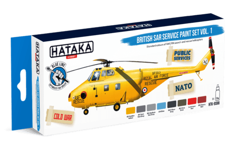 BLUE LINE - British SAR Service Paint Set vol. 1 Hataka Hobby - Pré-venda