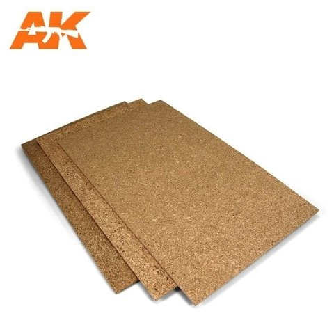 Cork Sheet 1/2/3mm (Fine) AK Interactive - PRÉ-VENDA