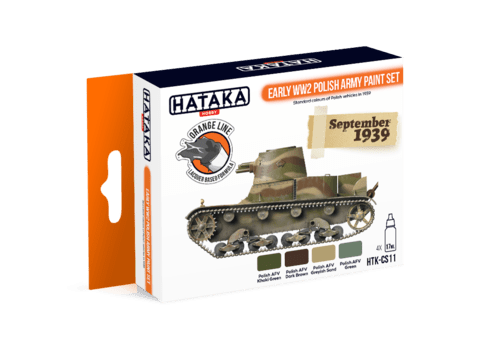 ORANGE LINE - Early WW2 Polish Army Paint Set Hataka Hobby