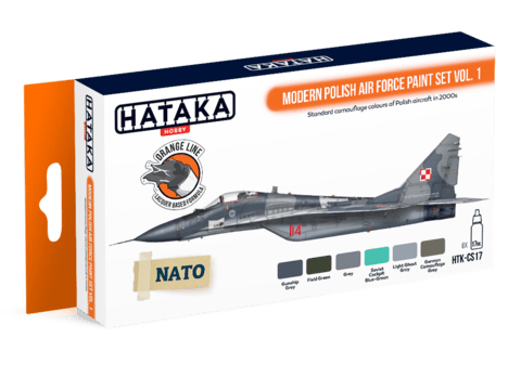 ORANGE LINE - Modern Polish Air Force Paint Set Vol.1 Hataka Hobby