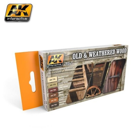 OLD AND WEATHERED WOOD VOL.1 COLORS SET AK Interactive - Pré-venda
