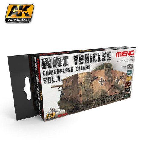 WWI Vehicles Camouflage Colors Set Meng - Pré-venda