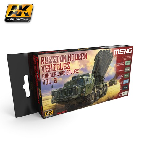 Russian Modern Vehicles Camouflage Colors Set Vol2 Meng - Pré-venda