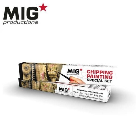 Chipping Painting Brush Set MIG Productions - PRÉ-VENDA