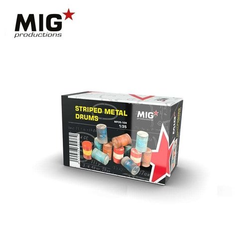 Stripped Metal Drums 1/35 MIG Productions