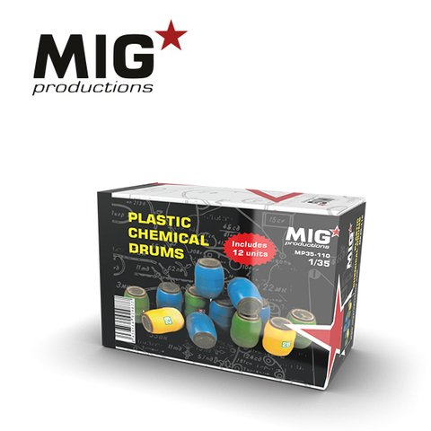 Plastic Chemical Drums 1/35 MIG Productions - PRÉ-VENDA