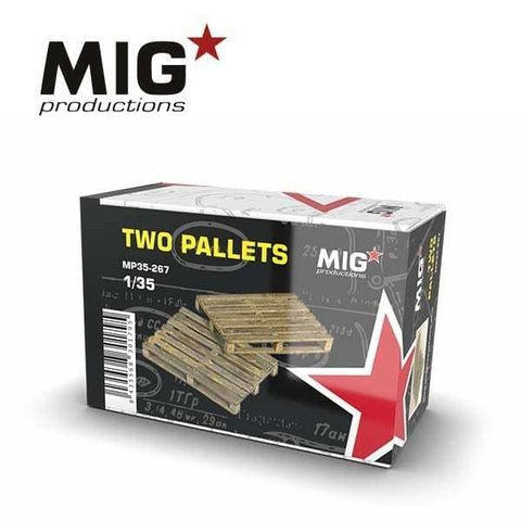 Pallets 1/35 MIG Productions - PRÉ-VENDA
