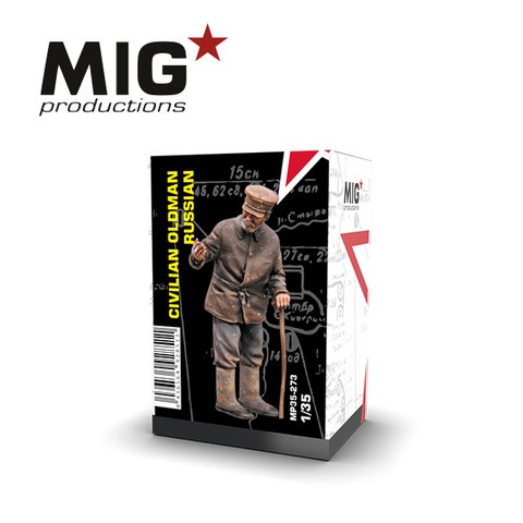 Civilian Russian Oldman 1/35 MIG Productions - PRÉ-VENDA