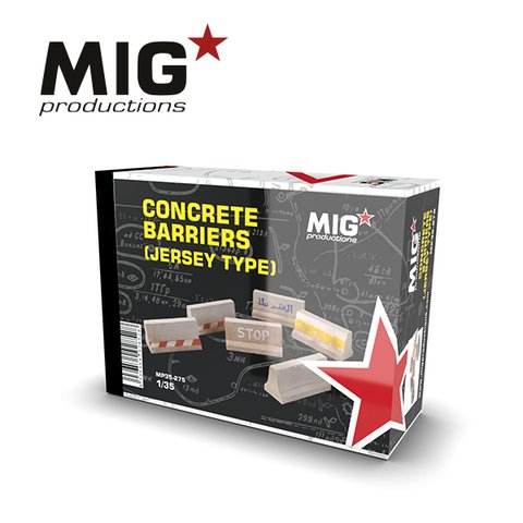 Concrete Barriers(Jersey Type) 1/35 MIG Productions - Pré-venda