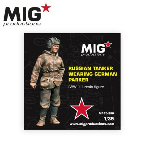 Russian Tanker Wearing German Parker 1/35 MIG Productions - PRÉ-VENDA