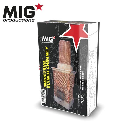 Ruined Industrial Chimney 1/35 MIG Productions - Pré-venda
