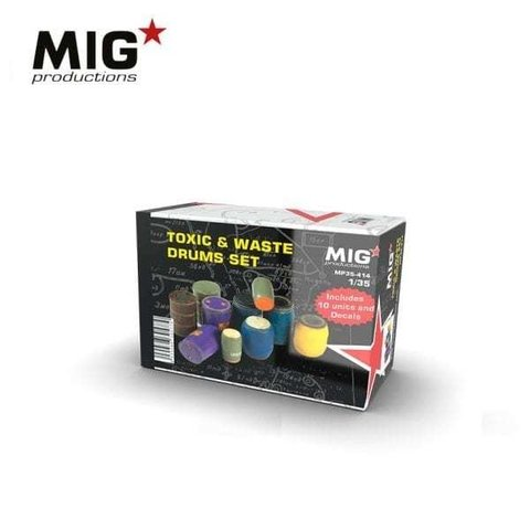 Toxic and Waste Drums Set 1/35 MIG Productions - PRÉ-VENDA