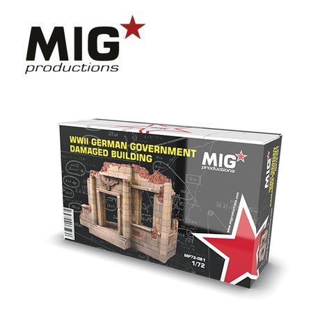 German Damaged Building 1/72 MIG Productions
