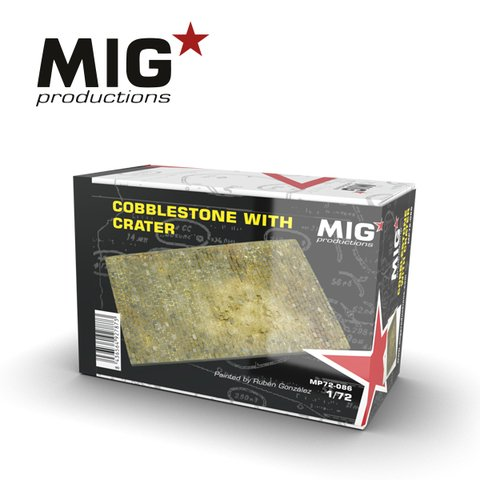 Cobblestone with Crater 1/72 MIG Productions - Pré-venda