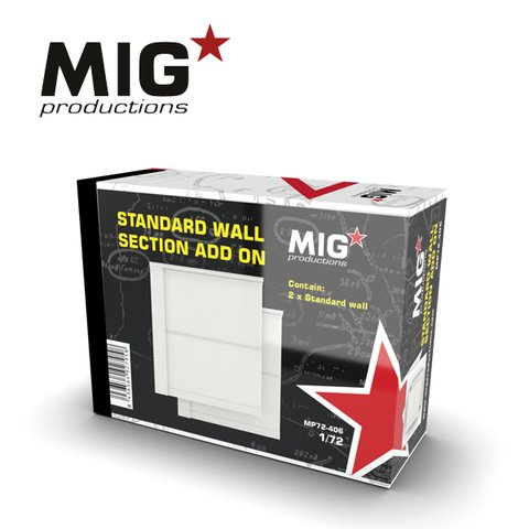 Standard Wall Section Add-on 1/72 MIG Productions - Pré-venda
