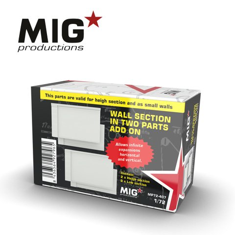 Wall Section in Two Parts Add-On 1/72 MIG Productions - Pré-venda