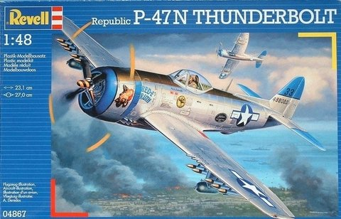Kit plastimodelo do avião P-47N Revell escala 1/48 para venda