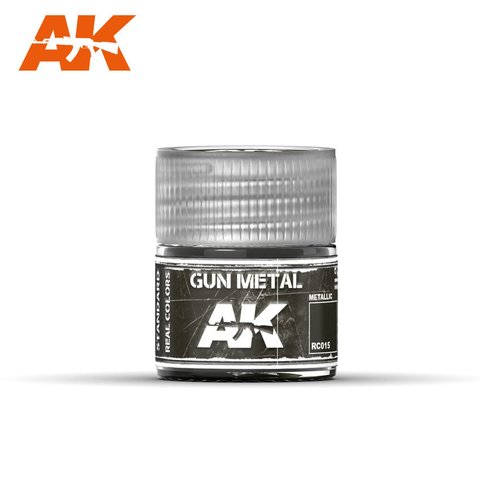 Real Colors Gun Metal (Metallic) AK Interactive - Pré-venda