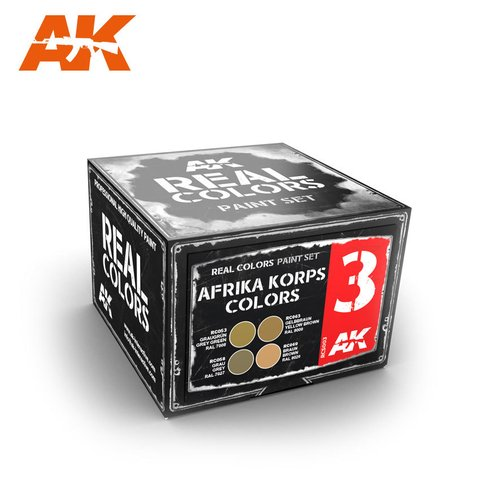 Real Colors Afrika Korps Colors Set AK Interactive - PRÉ-VENDA