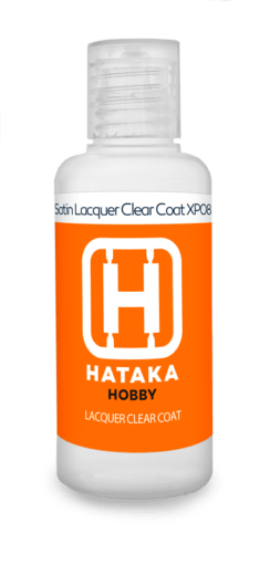 Satin Lacquer Clear Coat 60ml Hataka Hobby - Pré-venda