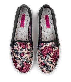 Tenis Slip On Flowers Drawn
