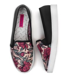Tenis Slip On Flowers Drawn - comprar online