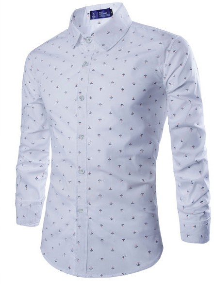 Camisa masculina mangas longas Slim Fit - comprar online