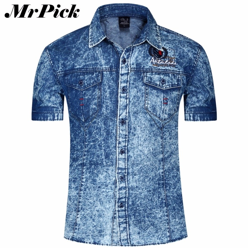 Camisa Jeans Moda Casual