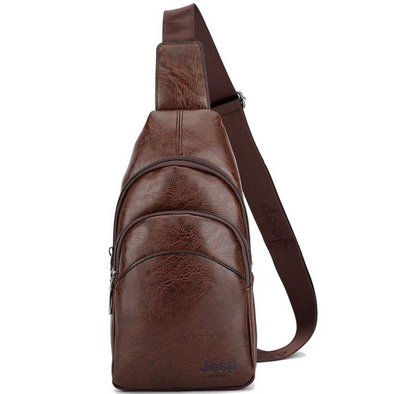 Bolsa De Ombro Masculina Couro : Bolsa de ombro masculina em couro oferta