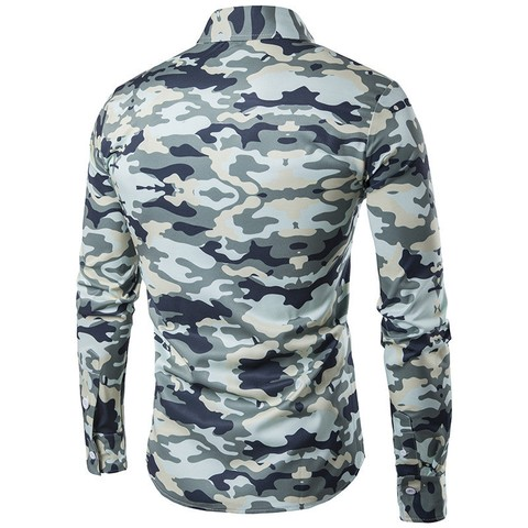 Imagem do Camisa Slim Fit Camuflada