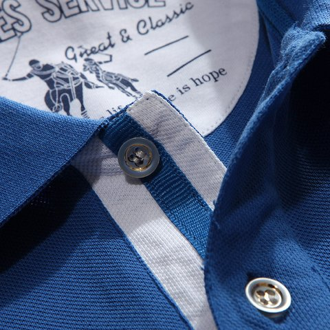Imagem do Camisa Polo Manga Curta com Bordado Slim Fit