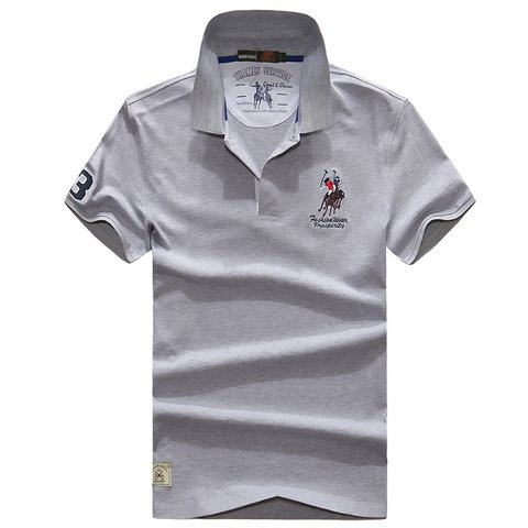 Camisa Polo Manga Curta com Bordado Slim Fit - comprar online