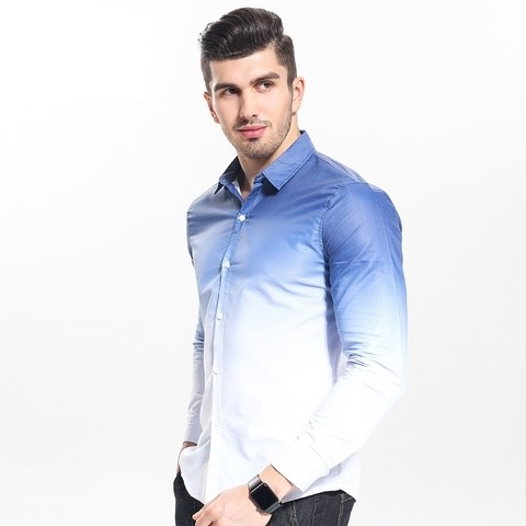 Camisa Slim Fit Gradiente Casual