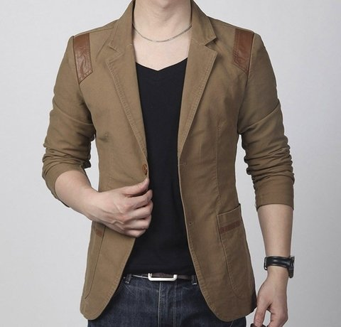 Blazer Masculino Casual Slim Fit