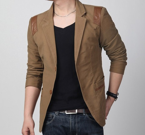 Blazer Masculino Casual Slim Fit na internet