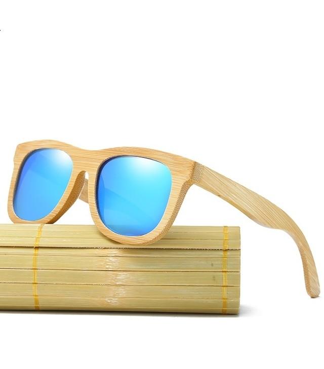 Óculos de sol armação em madeira de bambú lentes polarizadas 13a8103fea