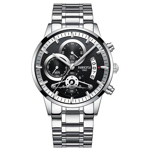 29a545034f8 Relógio masculino aço inoxidável - Frete Grátis