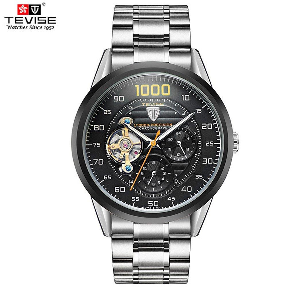 1704fc349e4 Relógio luxo Mecânico TEVISE Turbilhão - Mayortstore