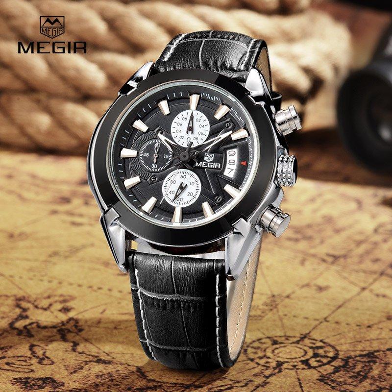 cf56d8e94b9 Relógio Masculino Quartzo Pulseira de Couro Esportivo