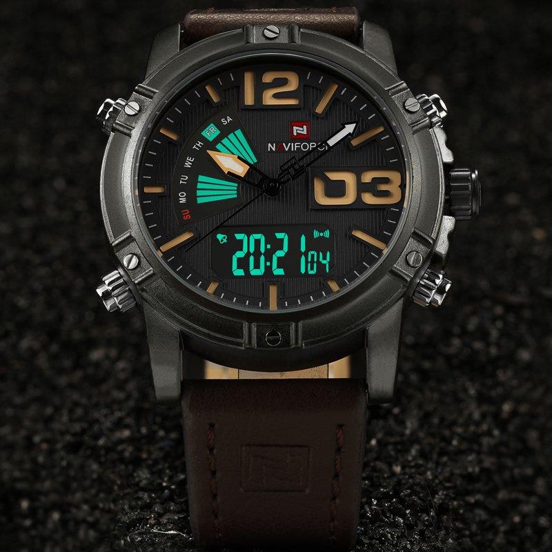 1efc1b602ef Relógio Naviforce Masculino Pulseira em Couro - Frete Grátis